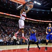 Photos: Warriors beat Blazers 122-108