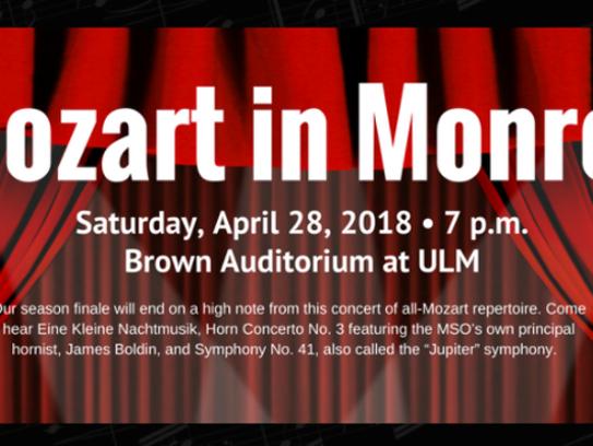 Mozart in Monroe is Saturday at ULM.