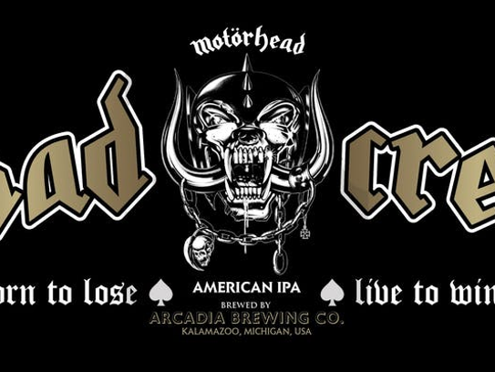 """Mötorhead's official """"Röad Crew"""" beer, made by Arcadia"""