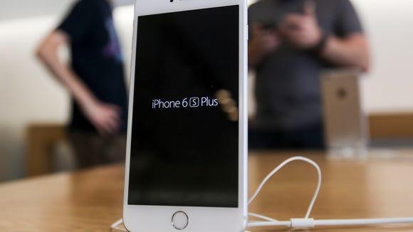 An Apple iPhone 6s Plus