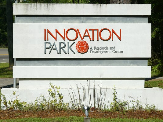 Innovation Park sign.
