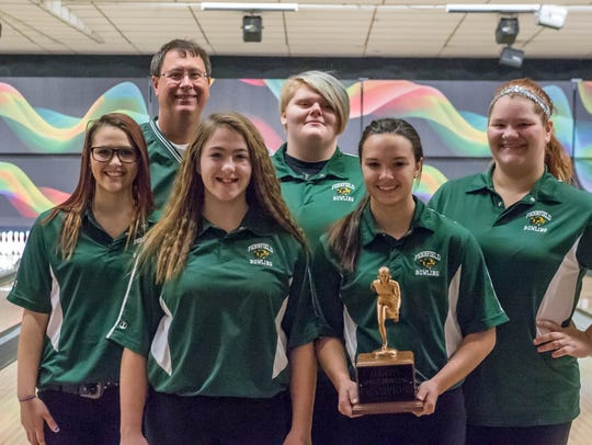 The Pennfield girls bowling team after the All-City