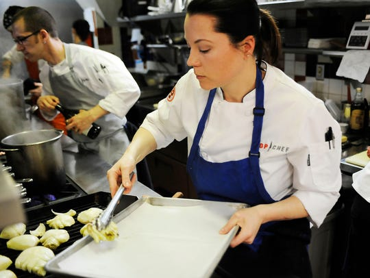 New Standby Executive Chef Rebecca LaMalfa, right,