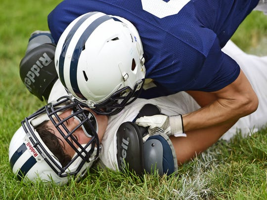 The first day of football practice at West York.