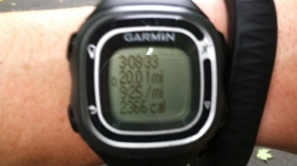 By far my fastest 20-mile run ever.