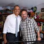 "Comedian Marc Maron performs his first stand-up show at The Capitol Theatre in Port Chester on June 25 after he interviewed President Barack Obama on his podcast ""WTF with Marc Maron."""