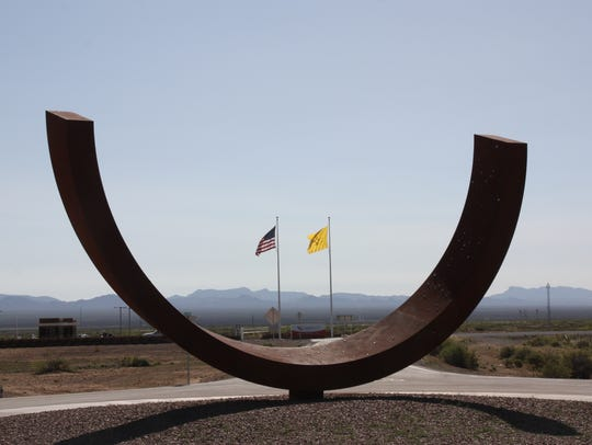 A morning view of Spaceport America, which is the finish