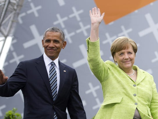 German Chancellor Angela Merkel and former president