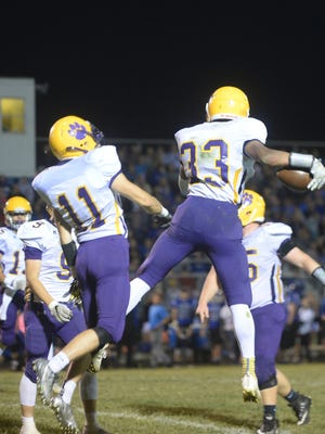 Hagerstown defeated Centerville 20-6 to remain undefeated in TEC play Friday, Sept. 29, 2017.