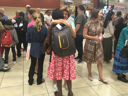 Reno residents greeted refugees when they arrived/