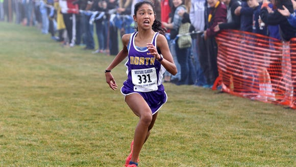 North Kitsap's Madison Zosa took first place as a freshman in last year's Class 2A girls race at the Westside Classic district cross country meet.