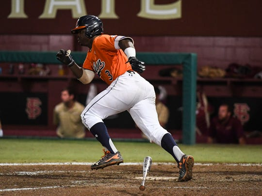 Josh Anthony had a two-RBI single to give Auburn a 7-6 lead in the ninth inning of a 10-inning loss to Florida State during the NCAA Baseball Regional on Sunday, June 4, 2017, in Tallahassee, Fla.