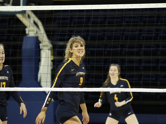 Jenna Rosenthal has led Marquette University in blocks each of the last two seasons, while ranking second in kills.