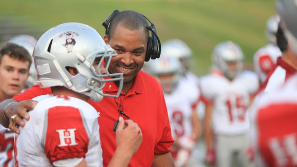 Hendersonville football coach Eric Gash.