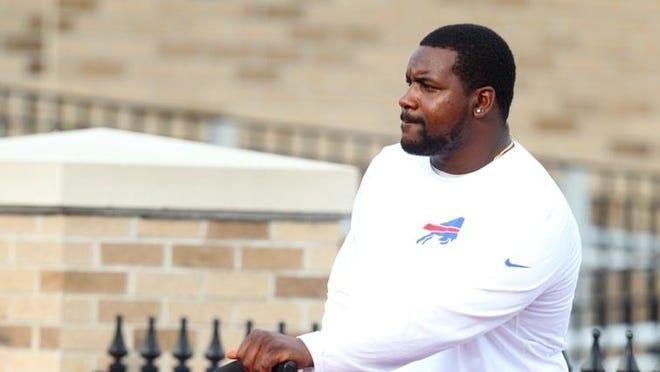Marcell Dareus at Bills camp.