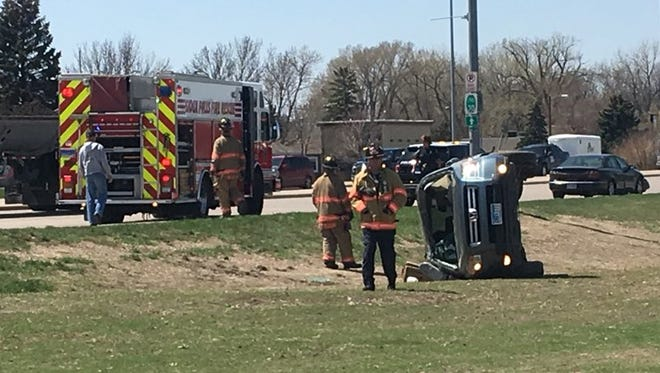 One person was injured after a crash at Russell Street and Western Avenue on Friday.