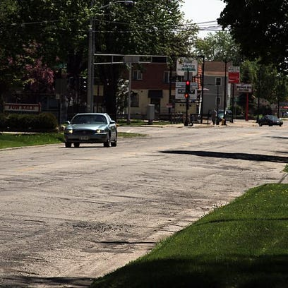 This 2015 file photo shows North Main Street, from