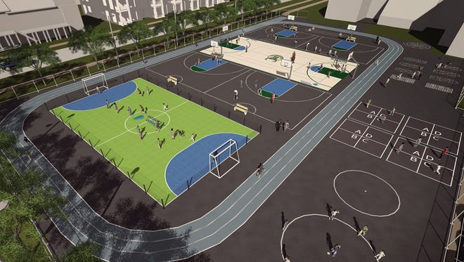 """The Milwaukee Bucks, in conjunction with partner Johnson Controls, will donate a $150,000 """"multi-sport complex"""" at Milwaukee Public Schools' Browning Elementary School and the Silver Spring Neighborhood Center, in the city''s Westlawn neighborhood."""