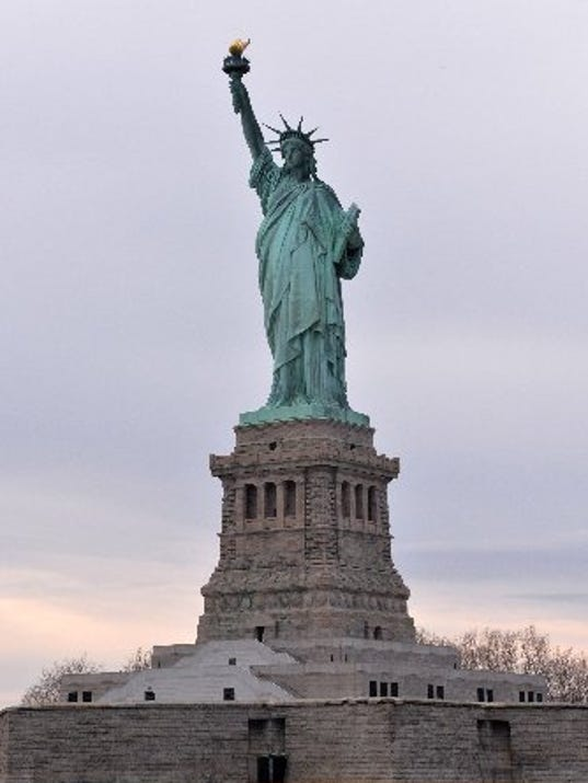 mitch albom lady liberty has her say about the wall
