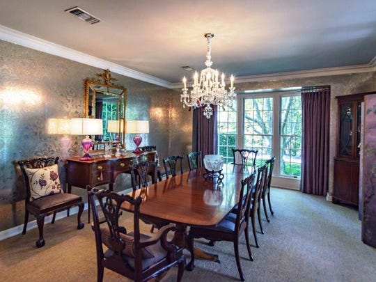 The formal dining room at 624 Montrose Drive.