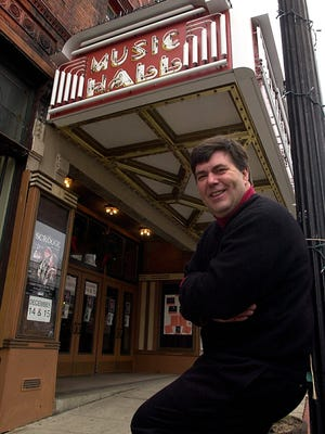 Kevin Meaney poses outside the Tarrytown Music Hall in 2002.