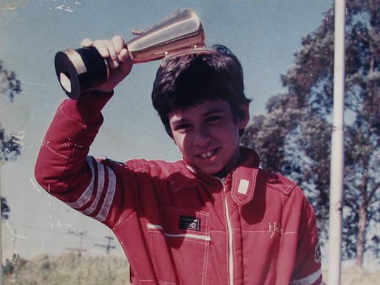 Helio Castroneves as a young racer