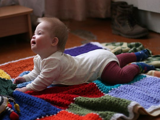 Baby Sofia was abandoned at birth in Ukraine before