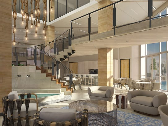 An interior rendering of the clubhouse for the future