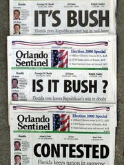 This Nov. 8, 2000, file photo shows the Orlando Sentinel's