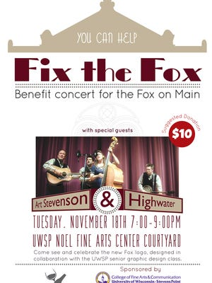 The Fox Theater LLC will host a benefit concert featuring Art Stevenson and High Water on Tuesday.