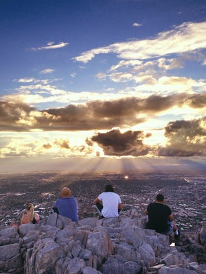"""Phoenix looks awfully sublime from the top of Piestewa Peak. Karina Yandell titled this photo, """"Sunday night service."""" See more of her photos at instagram.com/karinayandell."""