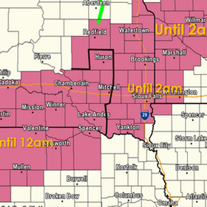 Area is under severe thunderstorm watch until 2 a.m.