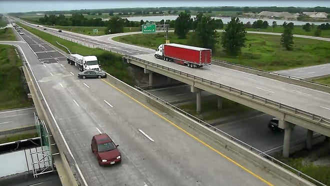 The Iowa Department of Transportation posted a video on its Facebook showing what can happen when drivers fail to merge properly.