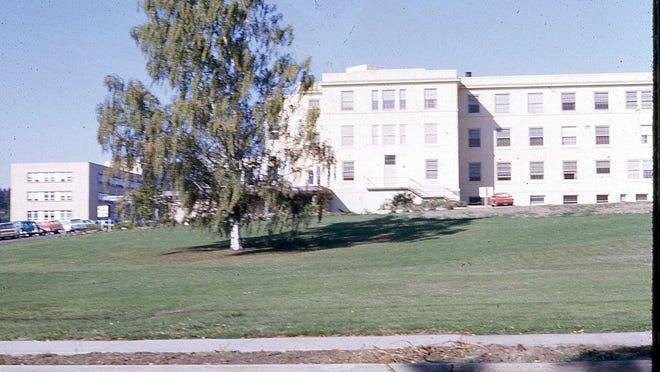 The Salem General Hospital building, seen in 1966, opened in 1923. It was demolished late in 2016.