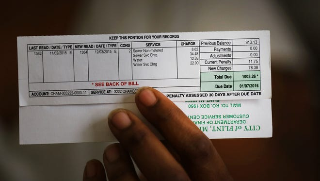 A Flint water bill.