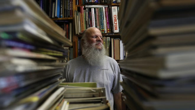Bill Foulkes, 60 of Sterling Heights, Michigan has been managing The Big Bookstore on Cass and Antoinette in Detroit since 1988.