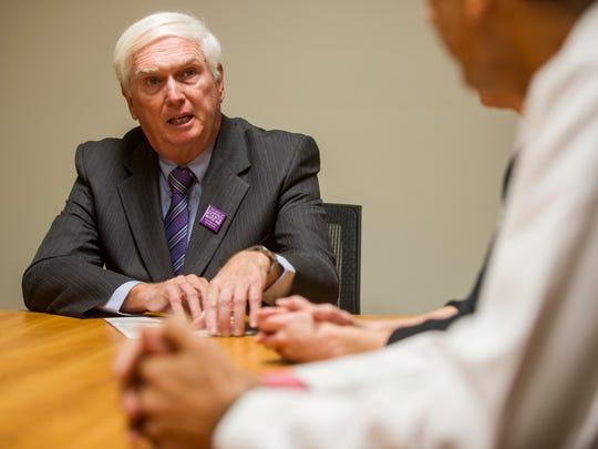 U.S. Rep. John J. Duncan, Jr. speaks with staff at