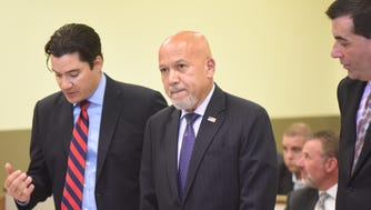 Paterson Mayor Joey Torres pleads guilty to corruption charges in Jersey City on Friday, Sept. 22, 2017.