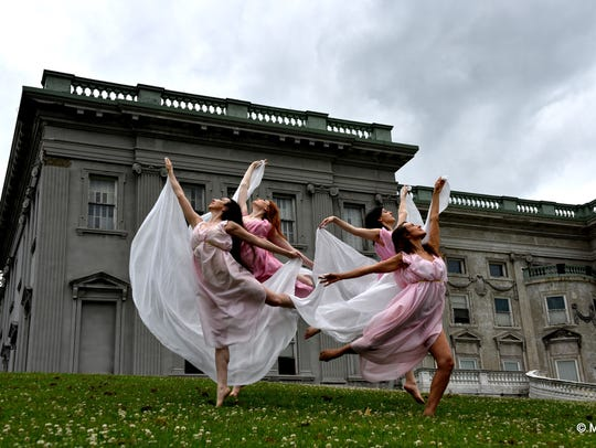 Isadora Duncan dancers Ruth Rose Rae, clockwise from