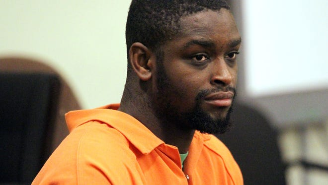 Tejay Johnson pictured in court on Sept. 9.