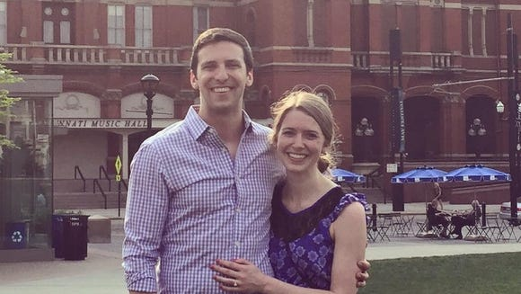 P.G. Sittenfeld and Sarah Coyne, after getting engaged