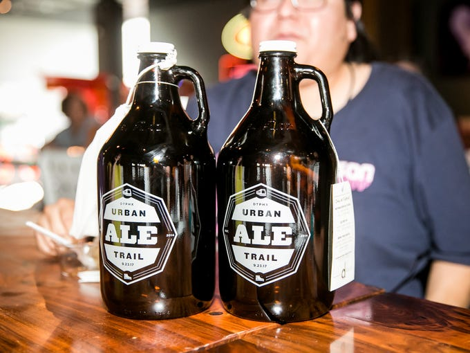This year's growlers at Urban Ale Trail on Saturday,