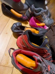 Carrots tucked into shoes await the arrival of Sinterklaas