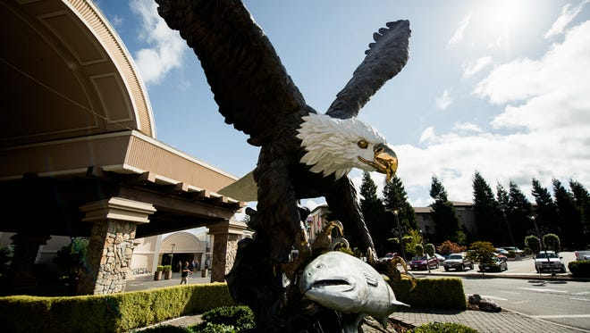 Seven Feathers Casino Resort has laid off nearly 10 percent of its workforce