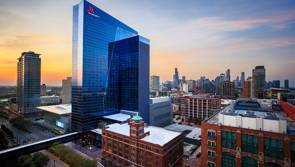 The Marriott Marquis Chicago is the largest Marriott