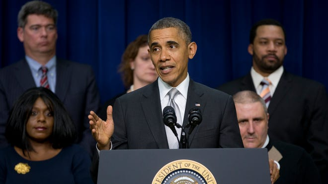 "President Obama  says his signature health care law ""is working and will work into the future."""