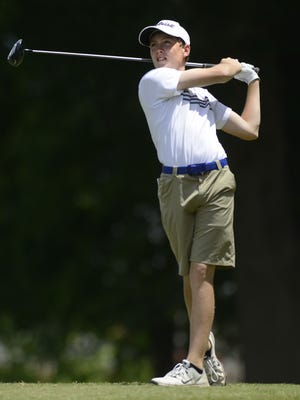 Catholic's Drew Smith during the AHSAA Sub-State Golf Tournament at Arrowhead in Montgomery, Ala., on Monday May 4, 2015.