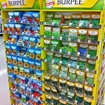 The Burpee seed display at Meijer cause pleasing visions of spring gardening, which is more attractive than actual gardening.