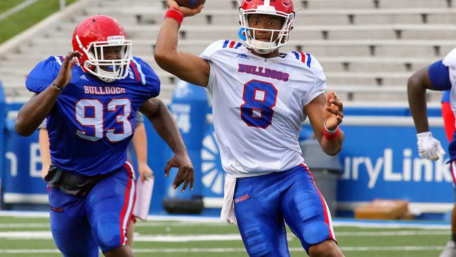 Louisiana Tech redshirt freshman J'Mar Smith has gone from scout team QB in 2015 to receiving second-team reps this fall camp.