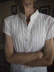 At a frail 85 pounds, Patricia Bates of Des Moines